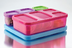 rubbermaid lunch blox kid's flat purplepinkgreen