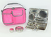 planet rover lunchbox pink carry retro