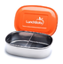 lunch bots stainless steel container orange