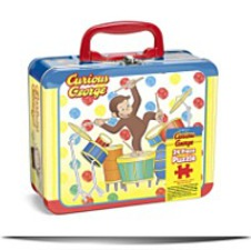 Curious George Puzzle In Tin Boxcurious