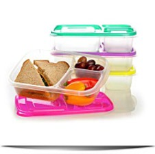 Easy Lunchboxes 3COMPARTMENT Bento Lunch