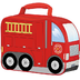thermos novelty soft lunch firetruck over
